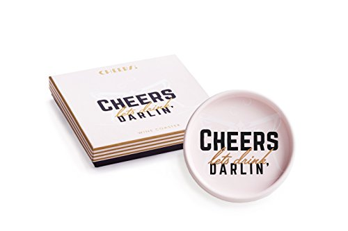 Rosanna Cheers! Let's Drink, Darlin Wine Coaster Multi