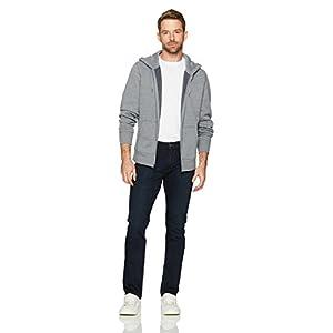 Amazon Essentials Men's Full-Zip Hooded Fleece Sweatshirt, Light Grey Heather, Small