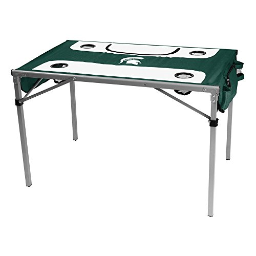 Logo Brands NCAA Michigan State Total Tailgate Table, One Size, Multicolor (Tailgate State Table)
