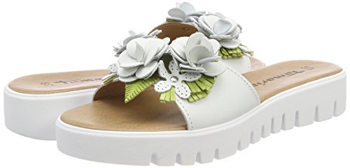 Women''s 175 white green Tamaris 27121 White Mules dw1dp4