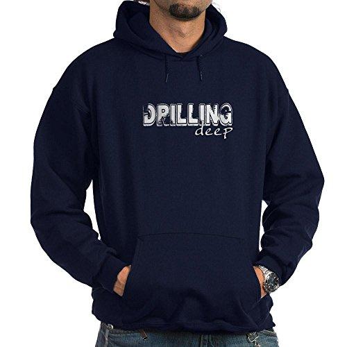 CafePress - Drilling Deep Hoodie (dark) - Pullover Hoodie, Classic & Comfortable Hooded - Jacket Rig Oil