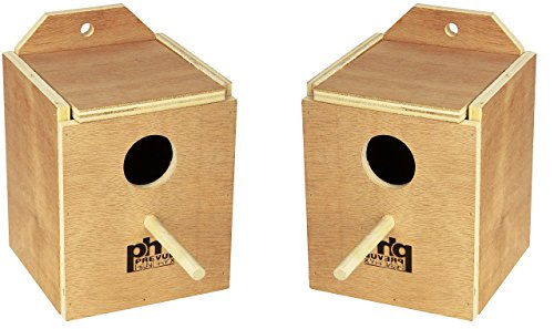 Finch Bird Nests - (2 Pack) Prevue Pet Products Wood Inside Mount Nest Box for Birds, Finch