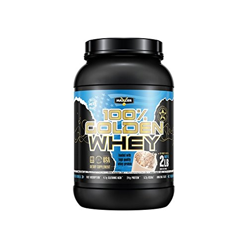 100% Golden Whey | Pecan Ice Cream | Premium 100% Whey Protein Powder, High Protein, Low Fat, Low Carb, Complete Amino Acid Profile (2-Pounds)