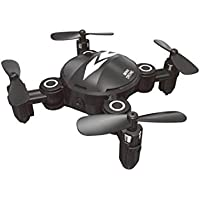 Owill XY-008 Mini Wifi Camera RC Quadcopter Drone HD Video Foldable 2.4GHz 6-Axis Altitude Hold Aircraft (Black)