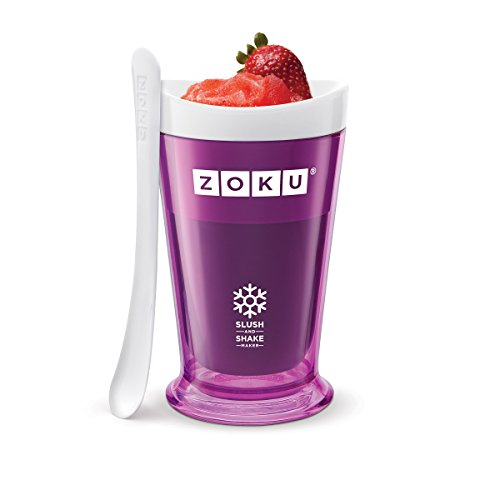 Zoku Slush and Shake Maker, Compact Make and Serve Cup with Freezer Core Creates Single-serving Smoothies, Slushies and Milkshakes in Minutes, BPA-free, Purple (Dispenser Frozen Cup)