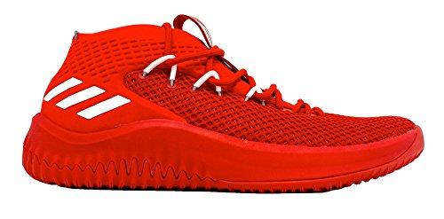 Adidas Dame Fire Sko Menns Basketball Scarlet-hvitt