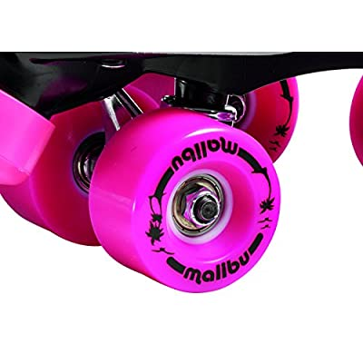 Sure-Grip Malibu Roller Skates Black and Pink Limited Edition (5) : Sports & Outdoors