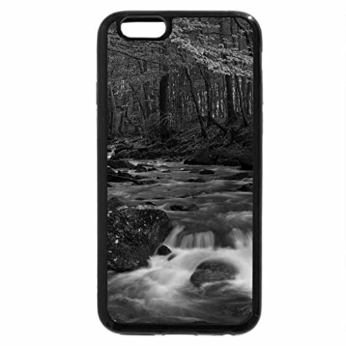 iPhone 6S Plus Case, iPhone 6 Plus Case (Black & White) - Autumn Fall