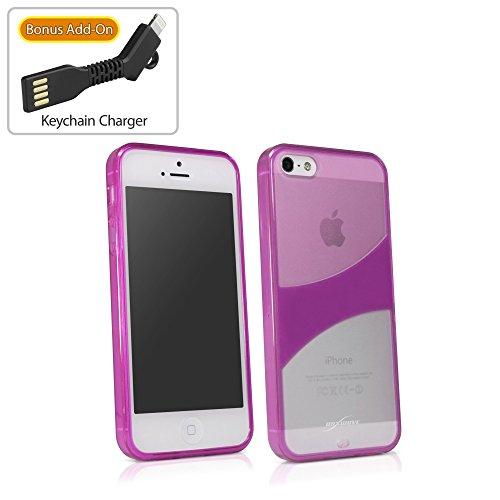 Coque Iphone se, BoxWave® [triotone Étui] Design monochromatique Glossy Coque en TPU pour Apple iPhone se, 5S, 5–Cosmo rose