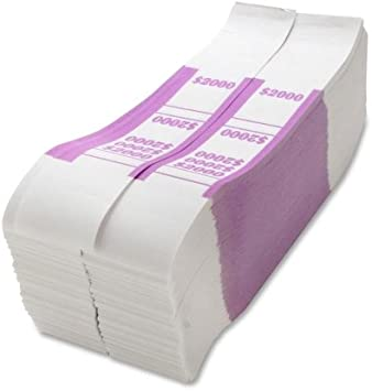 Sparco 2000 Bill Strap 1000 Wrap S Kraft Violet Office Products