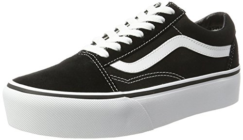 Vans Old Skool Platform Shoes 9.5 B(M) US Women / 8 D(M) US Black White