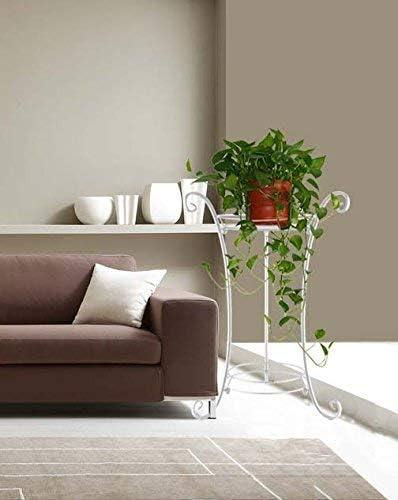 Soporte para macetas AISHN Soporte cl/ásico de Metal para Plantas//Plantas de Interior Blanco Soporte de Hierro