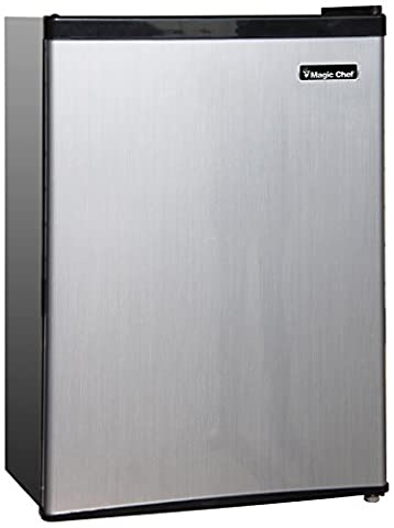 Magic Chef MCBR240S1 Refrigerator, 2.4 cu.ft., Stainless Look