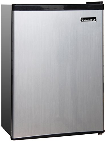 Magic Chef MCBR240S1 Refrigerator, 2.4 cu.ft, Stainless Look, Steel