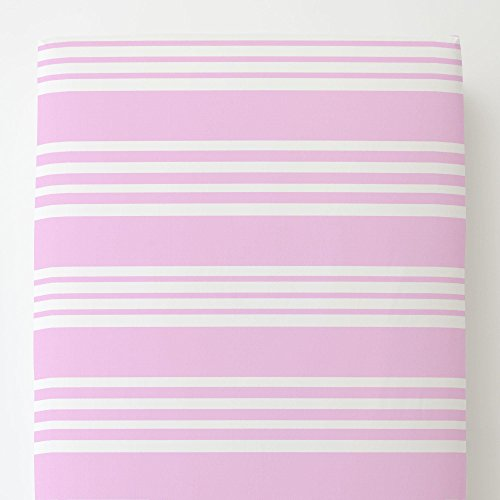 Carousel Designs Orchid Summer Stripe Toddler Bed Sheet Fitted by Carousel Designs