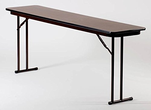 Set Leg Seminar Table - High Pressure Off (18 in. x 60 in./Walnut)
