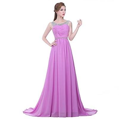 Graceful.u Beaded Straps Bridesmaid Dress with Sparkling Embellished Waist