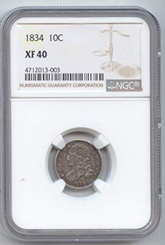 - 1834 Capped Bust Half Dime XF-40 NGC