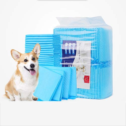 L QNMM Puppy Training Pads Pet Soft Disposable Pet Diapers With Tail Hole Super Absorbent Soft Denim Nappies For Dog Urinary Incontinence,L