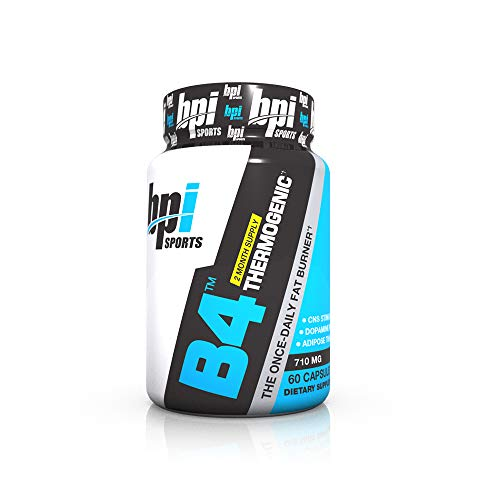 BPI Sports B4 - Extra-Strength Fat Burner - Keto-Friendly - Appetite Suppressant - Caffeine, Niacin, Quercetin, Yohimbine - 60 Servings - 710mg (Bpi Sports B4 Pre Training Fat Burner Review)
