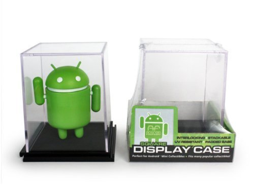 Single SQUARE Display Case (Interlocking, Stackable, UV-Resistant, & Padded Base) Android Foundry
