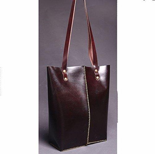 Dark Brown Leather Handmade Women's Tote Bag / Tote Handbag by AnyLeatherDesigns