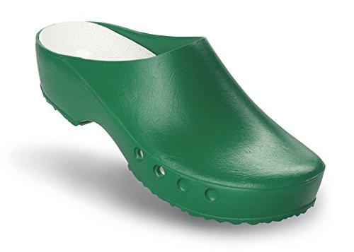 und Schuhe Classic OP Schürr Chiroclogs Fersenriemen Grün ohne mit T7zCq6B