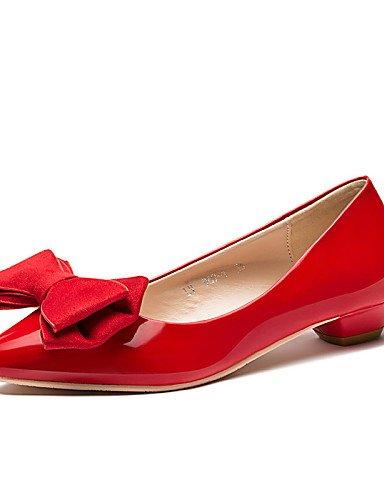 uk6 black negro PDX Sintético Tacón vestido de comodidad eu39 us8 cn39 Flats zapatos rojo oficina Cuero de casual Bajo y mujer carrera nwTTRZrq