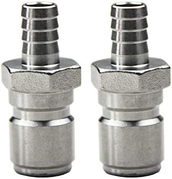 UP100 304 Stainless Steel Quick Disconnect 1//2 Inch Set Home Brew Fitting Connector Homebrewing
