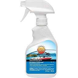 303 (30305-12PK) Marine UV Protectant Spray for Vinyl, Plastic, Rubber, Fiberglass, Leather & More – Dust and Dirt Repellant - Non-Toxic, Matte Finish, 10 Fl. oz. (Pack of 12)
