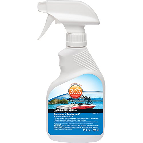 303 (30305) Marine UV Protectant Spray for Vinyl, Plastic, Rubber, Fiberglass, Leather & More - Dust and Dirt Repellant - Non-Toxic, Matte Finish, 10 Fl. oz.