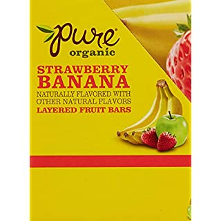 Pure Organic Layered Fruit Bars, Strawberry Banana, 9.15 Pound