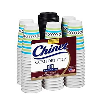 Chinet Comfort Cup 16 oz. Hot Cups & Lids (60 ct.) (pack of 2)