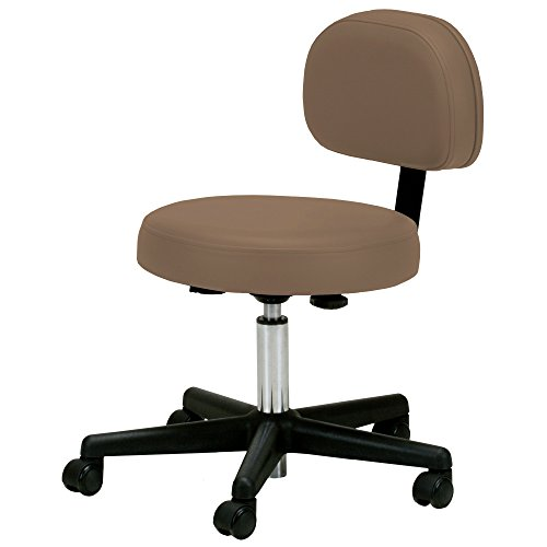 EARTHLITE Pneumatic Massage Rolling Stool with Backrest – No Leaking (vs. Hydraulic), Adjustable, CFC-Free, Salon Medical Spa Facial Chair