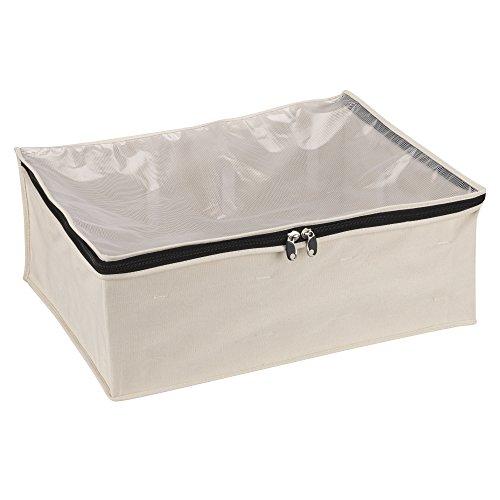 - Household Essentials 3364-1 Cotton Canvas Blanket Storage Bags | Natural