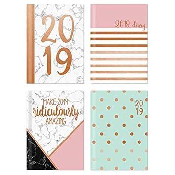 2019 - Agenda semanal de bolsillo con diseño de tipografía ...
