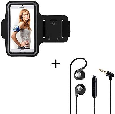 Pack Sport para Xiaomi Redmi Note 7 Smartphone (Brazalete Deportivo + Auriculares Planos con Micro) Courir T8 (Negro): Amazon.es: Electrónica