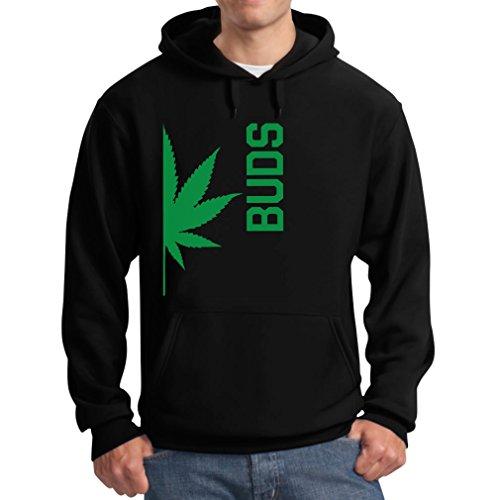 Best Weed Buddies Funny Best Friends Weed Day Gift Cool - Men's Hoodie Large Black