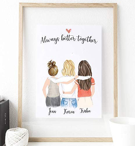 [해외]Personalized best friend print art 8x10 (Unframed) / Personalized best friend print art 8x10 (Unframed)