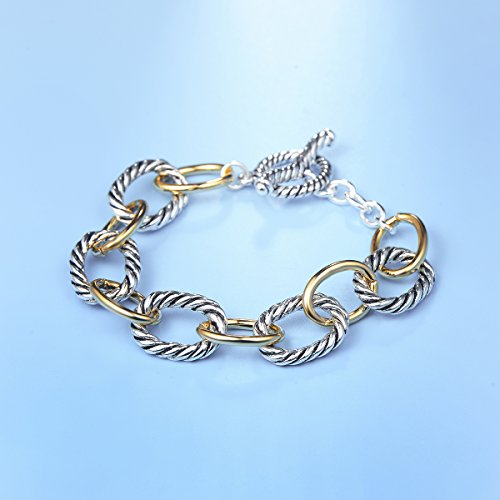 UNY Bracelet Designer Brand Inspired Antique Women Jewelry Cable Wire Vintage Valentine Christmas Gift by UNY (Image #2)
