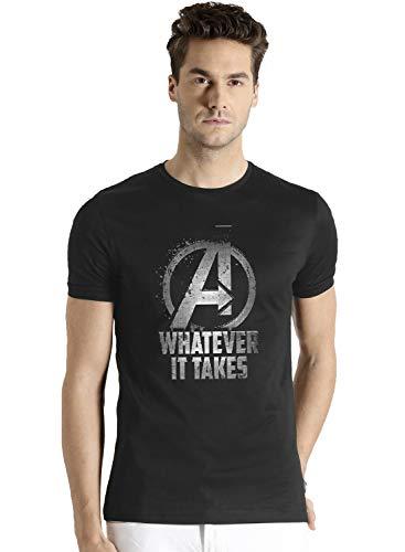 ADRO Men's Regular Fit T-Shirt (RNR-M-WHA-BL-S_Black_Small) (B07YJ2TLT1) Amazon Price History, Amazon Price Tracker