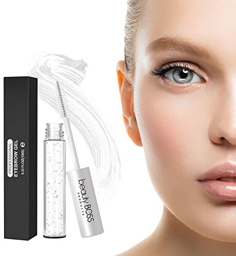 Clear Eyebrow Gel Brow Mascara - Sculpting Clear Gel for Glossier Brows - Natural Liquid Browgel Made in USA ()