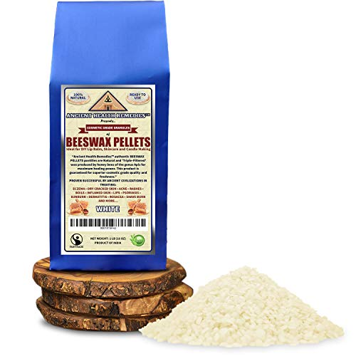 All Natural, Cosmetic Grade White Beeswax PELLETS PASTILLES 1 LB (16 oz). Bulk, Grade A, Triple Filtered Ideal for DIY…