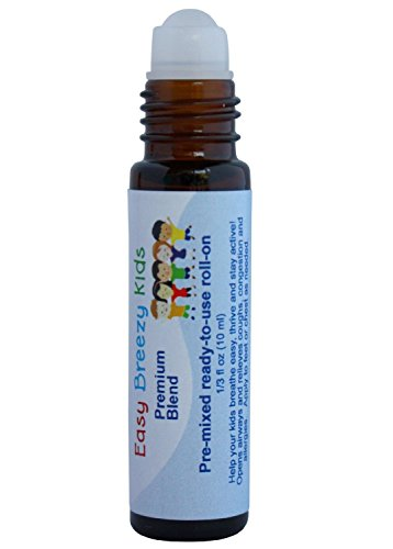 Easy Breezy Kids – Premixed, kid-ready, essential oil blend, makes breathing easy. 100% natural & safe for kids. Parent tested, kid approved, 10 ml (1/3 fl oz) roll-on by AROMATA (Image #2)'