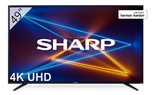 Sharp LC-49UI7252E – UHD Smart TV de 49″ (resolución 3840 x 2160, HDR, 3X HDMI, 2X USB, 1x USB 3.0) Color Negro