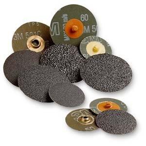 100 Units Aluminum Oxide A//O Resin Fibre Disc 80 Grit Quick Change TS 5 x TS Standard Abrasives 531106