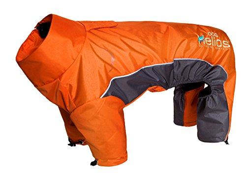 DogHelios Blizzard' Full-Bodied Comfort-Fitted Adjustable and 3M Reflective Winter Insulated Pet Dog Coat Jacket w/Blackshark Technology, X-Small, Orange by DogHelios