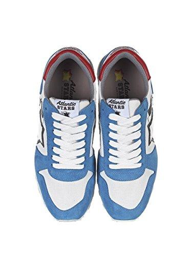 Argobanylb Uomo bianco Atlantic Ecopelle Stars Sneakers Azzurro wvW8A 77ae8f88907
