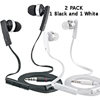 Purchase (2 Pack) Beat & Kick Universal Handsfree Super Bass Stereo Earbud Headphones with Microphone for Tablets, Smartphones... wholesale