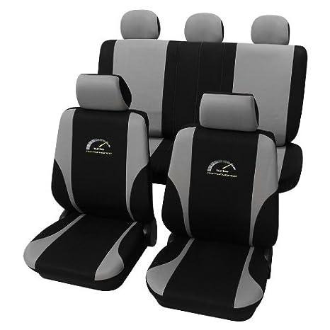 Amazon.es: Para Seat Altea/Altea Xl Asiento Fundas Asiento Colchón Turbo gris plata negro auto asiento fundas schonbezüge de asiento